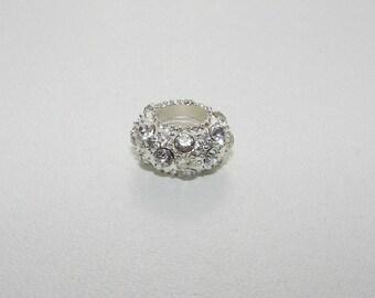 Pearl White rhinestones and metal Charms.