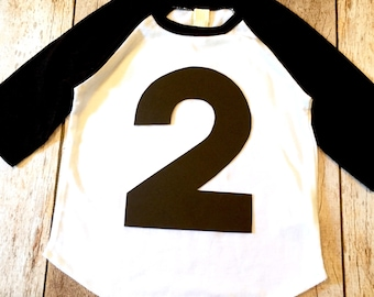 2 2nd two Birthday Shirt black and white sports raglan cake theme ideas favor party pirate farm race car trucks boys tribal tee pee teepee