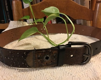 Leather Belt Fossil Brand