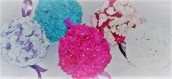 Silk flower kissing ball 6 hydrangea pomander ball mightylinksfo