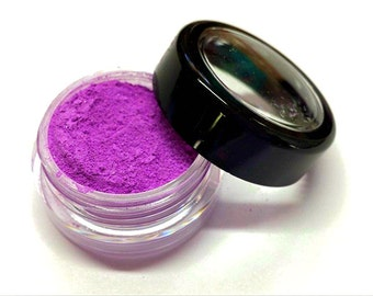 "Bright Purple Shimmer Eye Shadow - Neon Purple - ""Grape Popsicle"" - Free U.S. Shipping - Mineral Makeup - Eyeshadow"