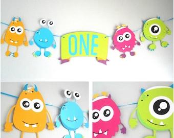 Little Monster 1st birthday, Monster theme birthday, monster banner, baby's 1st birthday, monster party decorations, happy birthday