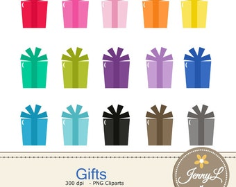 Gifts Clipart, Present Birthday Gift for Planners, Digital Scrapbooking, Invitations, cupcake toppers, Stickers, Labels