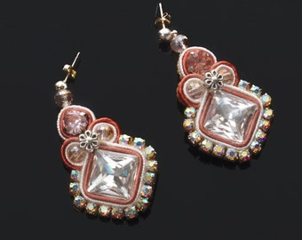 "Soutache earrings ""Spriz"""