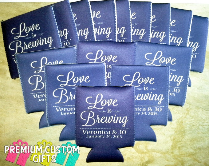 Wedding Favor Can Coolers - Beverage Insulators - Personalized Can Coolers - Custom Can Coolers - Bachelorette Can Coolers - Vacation Cooler