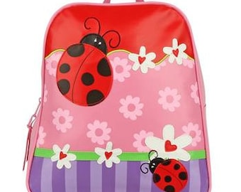 Personalized Stephen Joseph Vinyl Ladybug Backpack, Go Go Bag, Diaper Bag, Toddler Backpack, Overnight Bag with FREE Embroidery