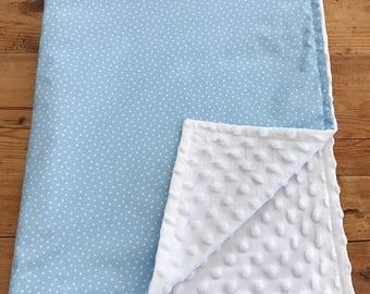 Blue Star Minky Blanket, Baby Boy Blanket, Baby Minky Blanket, Baby Boy Gift