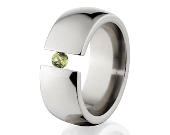 Uniquely You- Tension Set- Peridot- Ring-   8HR-P-Tension