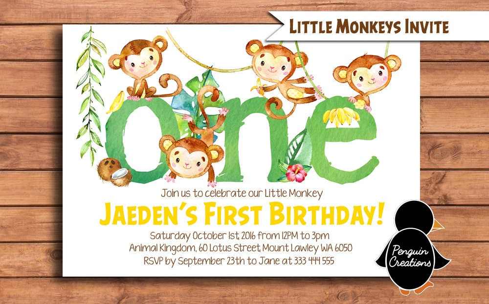 Monkey First Birthday Invitations Gallery - coloring pages adult
