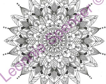 Mandala Colouring Page PNG Download
