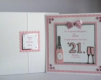 21st birthday card etsy 18th21st birthday card with presentation box daughterson granddaughtergrandson niece bookmarktalkfo Choice Image