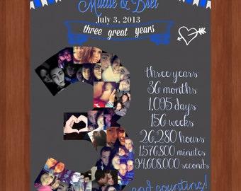 Three Year Wedding Anniversary File - Wedding Anniversary Ideas - DIGITAL - Anniversary Present - 3rd Wedding Anniversary - Love