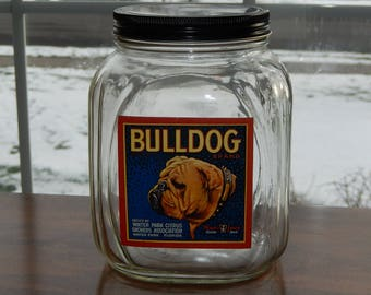 Bulldog Cookie Jar - A Doggone Handy Place for Your Best Friend's Treats!