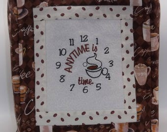 Keurig  Cover, Coffee Maker Cover, Coffee Time