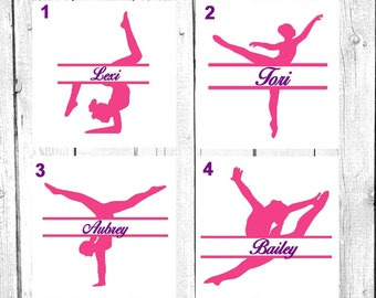 Ballet Dancer Monogram, Dancer Decal, Vinyl Decal, Yeti Decal, Car Decal, Gifts for her, Phone Decal, Laptop Decal, Yeti Cup, Dance Teacher