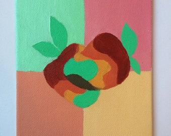 colorful mangoes acrylic on canvas