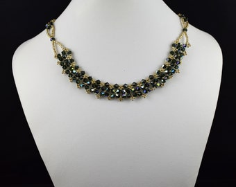 Swarovski green Crystal Choker necklace
