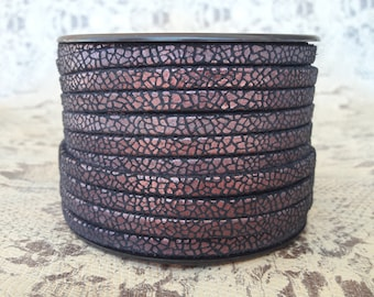 5mm flat double plum Crackle high European quality leather strap