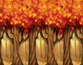 XL Fall Trees Photo Booth Backdrop/ Fall Scene Photo Booth/ Fall Party Backdrop/ Thanksgiving Backdrop/ Halloween Photo Backdop