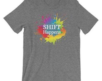 Shift Happens Premium Tee (Grey)