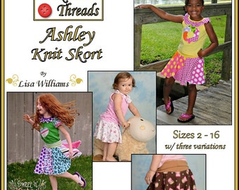 INSTANT DOWNLOAD: Ashley Knit Skort - diy Tutorial pdf eBook Pattern - Sizes 2 - 16