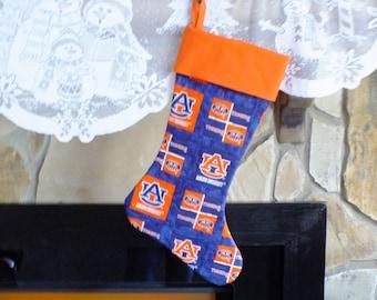 Christmas Stocking  Auburn University Orange Cuff Must Have!