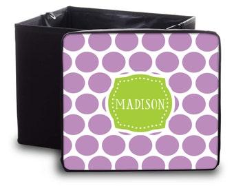 Personalized Storage Bin   Design Your Own   Portable Storage Bin   Custom  Toy Box   Monogram Storage Container