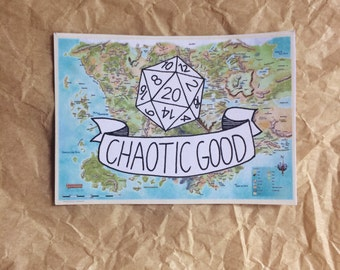 Chaotic Good Dungeons & Dragons stickers