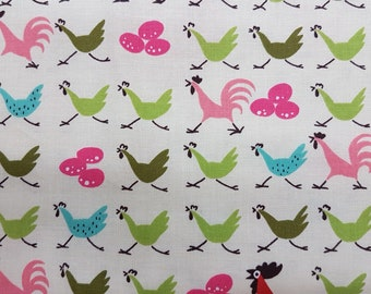 Farmdale crossing Chickens De Leon Design Group * The Alexander Henry Fabrics Collection
