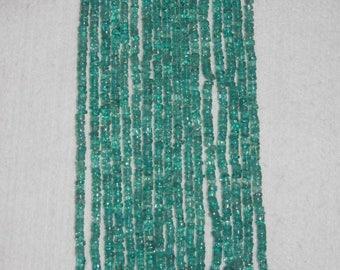Apatite, Apatite Heishi, 4-5 mm, Blue Green Apatite, Smooth Heishi, Gemstone Bead, Natural Stone, Semi Precious, Full Strand,  AdrianasBeads