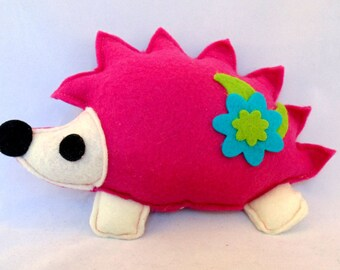 music box hedgehog (pink)