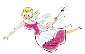 Fairy Godmother Tooth Retro Cartoon Comic Woman