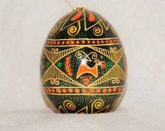 Stag pysanka Deer pysanky Ukrainian Easter Egg Traditional folk art chicken egg Easter Egg  Batik wax resist  Made in USA