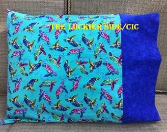 Sea Turtles Travel Pillowcase,  Sea Turtle Travel Pillow, Turtles, Pillowcase,