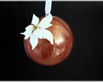 Christmas poinsettia ornament