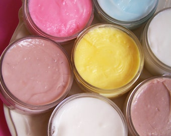 Whipped Body Butter Mini Sample - Body Lotion, Body Frosting, Mini Lotion, Party Favors, Small Jar, Travel Size, Body Whip, Wedding Favors