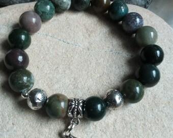 1256 - Tibetan bracelet, Indian agate beads and Buddha