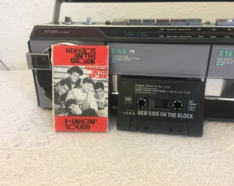 New Kids on The Block, NKOTB single, Hangin' Tough, Didn't I Blow Your Mind, vintage cassette tape, music cassette