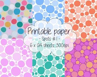 Printable paper: Spotty set #1