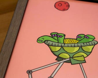 Turtle 11x14 Print