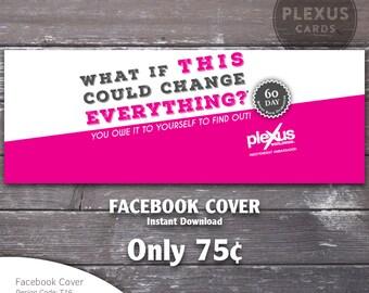 Plexus Facebook Cover Pink design - Instant Download
