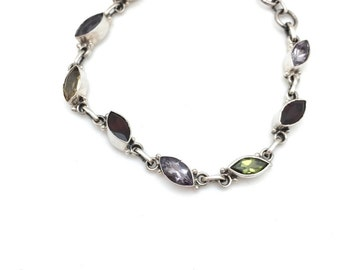 Marquis-shaped Semi-precious Bracelet