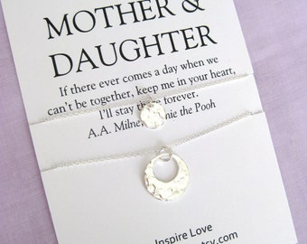 MOTHER Daughter Necklace Mom Gifts 60th Birthday Gift For Mother DAUGHTER Jewelry