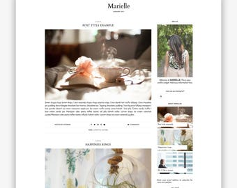 Marielle | Responsive Minimalist Premade Blogger Template