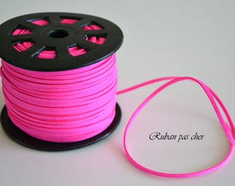 "5 m cord ""Steady pink"" 3 mm x 1.5 mm - cheap!"