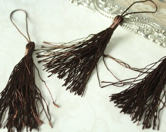 Brown Polyester Tassel with Fringe / TASL01-02 Ribbon NOT included