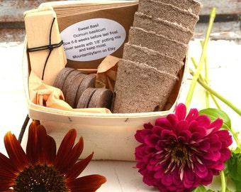 Bee Friendly Garden Kit, Pollinator Garden Kit, Heirloom Seeds for Pollinators, Sunflower Seeds, Heirloom Herbs, Gardening Supply