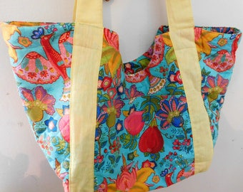 Handcrafted Tote Bag, Beach, Pool, Gently Used, 22 x 13 Inches