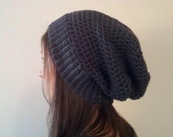 Slouchy Beanie, Slouchy Hat, Slouch Beanie, Crochet Slouchy, Crochet Beanie, Wool Hipster Beanie