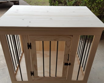 Unfinshed Dog Crate Furniture, DIY Dog Crate, Dog Crate Funiture